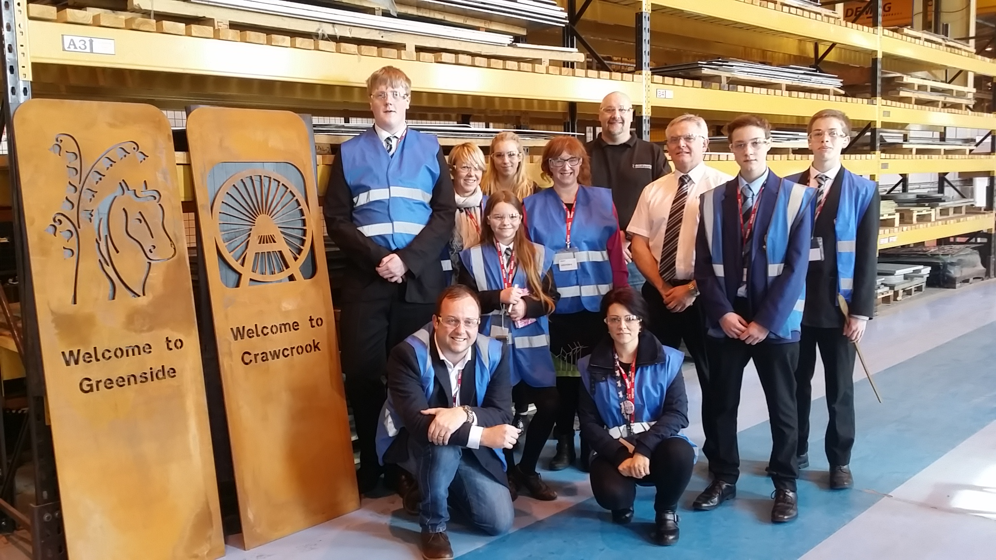 A visit to Armstrong Works allowed the students to see their signs being manufactured