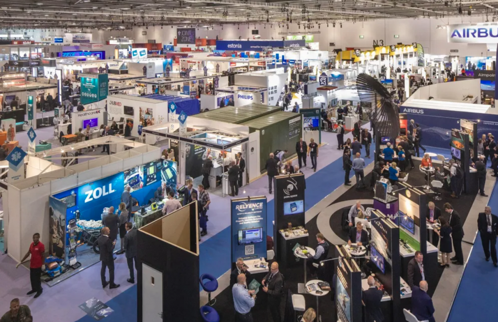 View of exhibition hall for DSEI